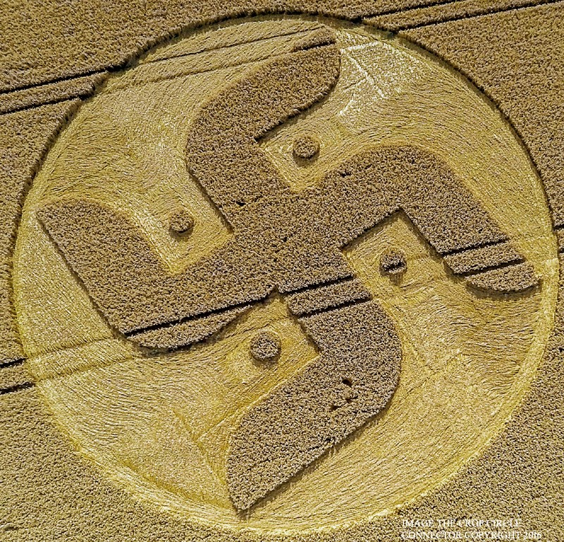 "The Hindu / Buddhist ""Harmony"" symbol crop circle."